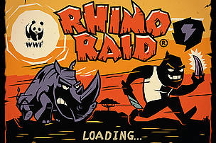 WWF Rhino Raid title screen