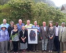 WWF South Africa CEO, Morné du Plessis receives a gift to the WWF-SA Board from the CEO of WWF-US, Carter Roberts.