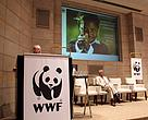 Trade and Industry minister Rob Davies speaks at the opening of WWF's Living Planet Conference 2013.