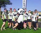 Members of the Panda Peloton getting ready to pedal for the planet!