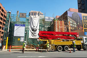 Progress on the Braamfontein build as at 24 July 2014.