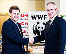 Pick 'n Pay CEO Nick Badminton (left) and WWF CEO Morne du Plessies