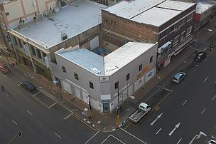 The original structure at the Braamfontein office building site
