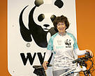 Clare Graaff, WWF Ride for Nature Ambassador in the Cape Town Cycle Tour.