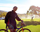 Cycling is just one of the ways to lower your carbon footprint and stay healthy, too!