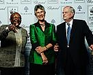 Archbishop Emeritus Tutu, Yolanda Kakabadse (President of WWF International) and Luc Hoffman (founder of WWF).
