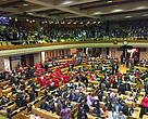 A scene from parliament during the 2015 State of the Nation address.