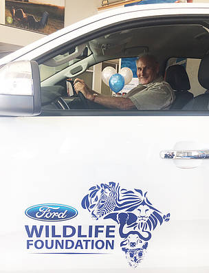The Ford Wildlife Foundation donates a bakkie to the Black Rhino Range Expansion Project