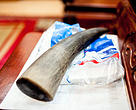 A rhino horn for sale on the table of a black market animal trade dealer at his home in Hanoi, Vietnam.