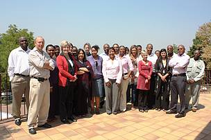 Participants of the second network meeting held on the 29-30 September 2010 at the SANPARKS Head Office in Pretoria (Groenkloof Nature Reserve)