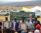 The Ukuthanda Ukukhanya Community Property Association (84 people) signed an area of 750 ha. The community lives off the land and herds cattle in this area where employment is very low.