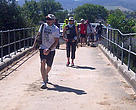 The Journey of Water walkers arrive at the Spier Wine Farm Estate after a second day of gruelling hiking.
