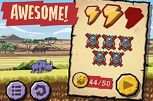 WWF Rhino Raid: top game play