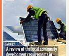 Review of the local community development requirements in SA's renewable energy procurement programme