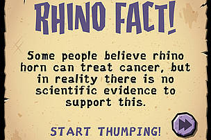 WWF Rhino Raid: rhino facts