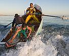 Crayfishers from the town of Paternoster on the westcoast of South Africa going out to sea.
