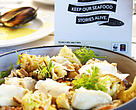Sustainable seafood dish.