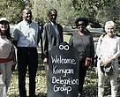 The WWF-Kenya board was warmly received by Theressa Frantz (left) and Dr Jackie King (right). Richard Kaguamba (centre-left), Mohamed Awer (centre) and Mary Kiyombe (centre-right).