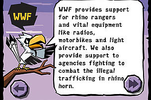 WWF Rhino Raid: WWF provides support for rhino rangers and to agencies fighting to combat the illegal trafficking in rhino horn.